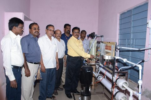 Nagapattinam District Collector inagurates RO water system  promotted by NAMCO with NABFINS support