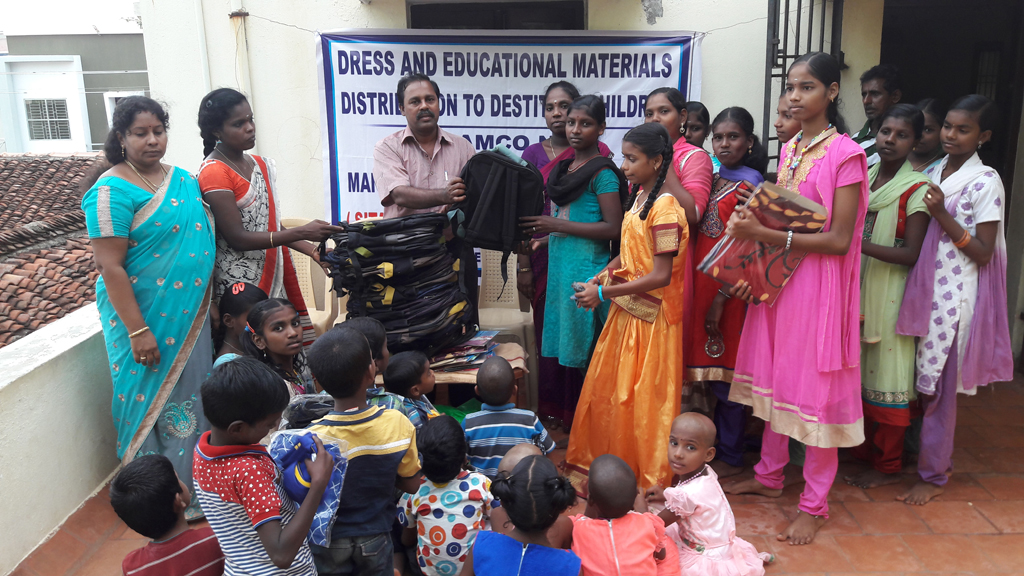 DRESS AND EDUCATIONAL MATERIALS TO DESTITUTE CHILDREN
